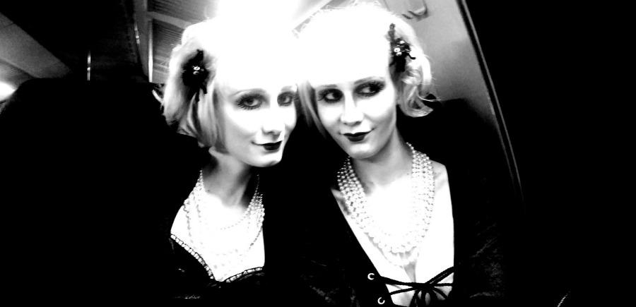 Halloween 2014, Gothic dolls, Super Twins Annalena und Magdalena