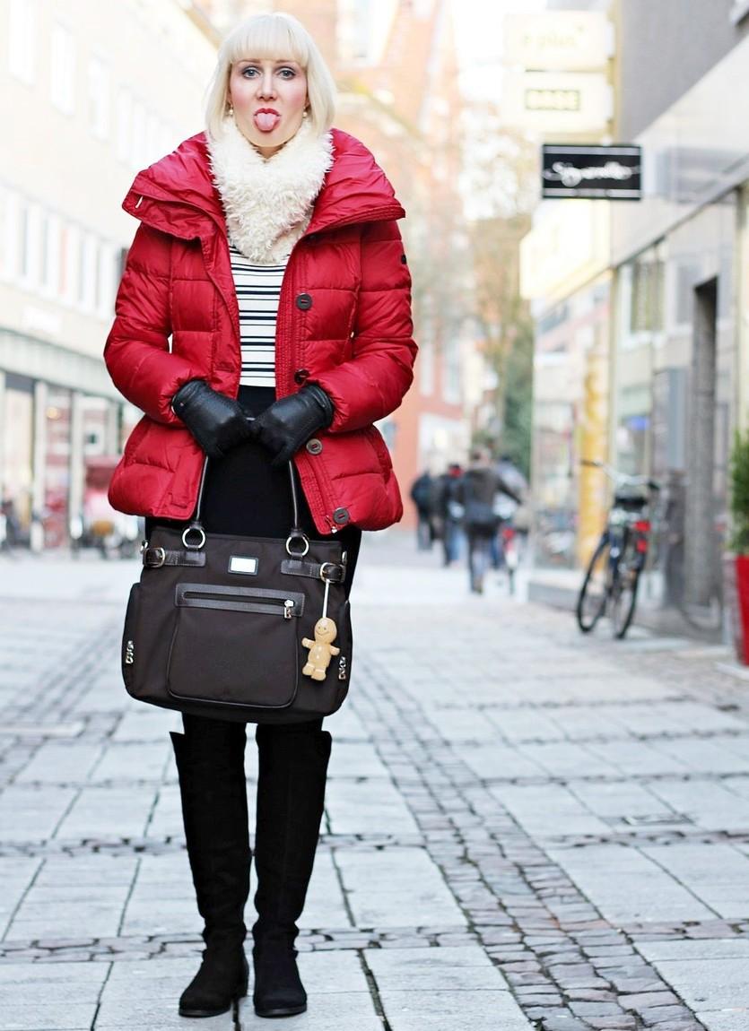 Winter Basics, Mexx Jacke, Opus Loop, Tamaris Overknee Stiefel, Super Twins Annalena und Magdalena