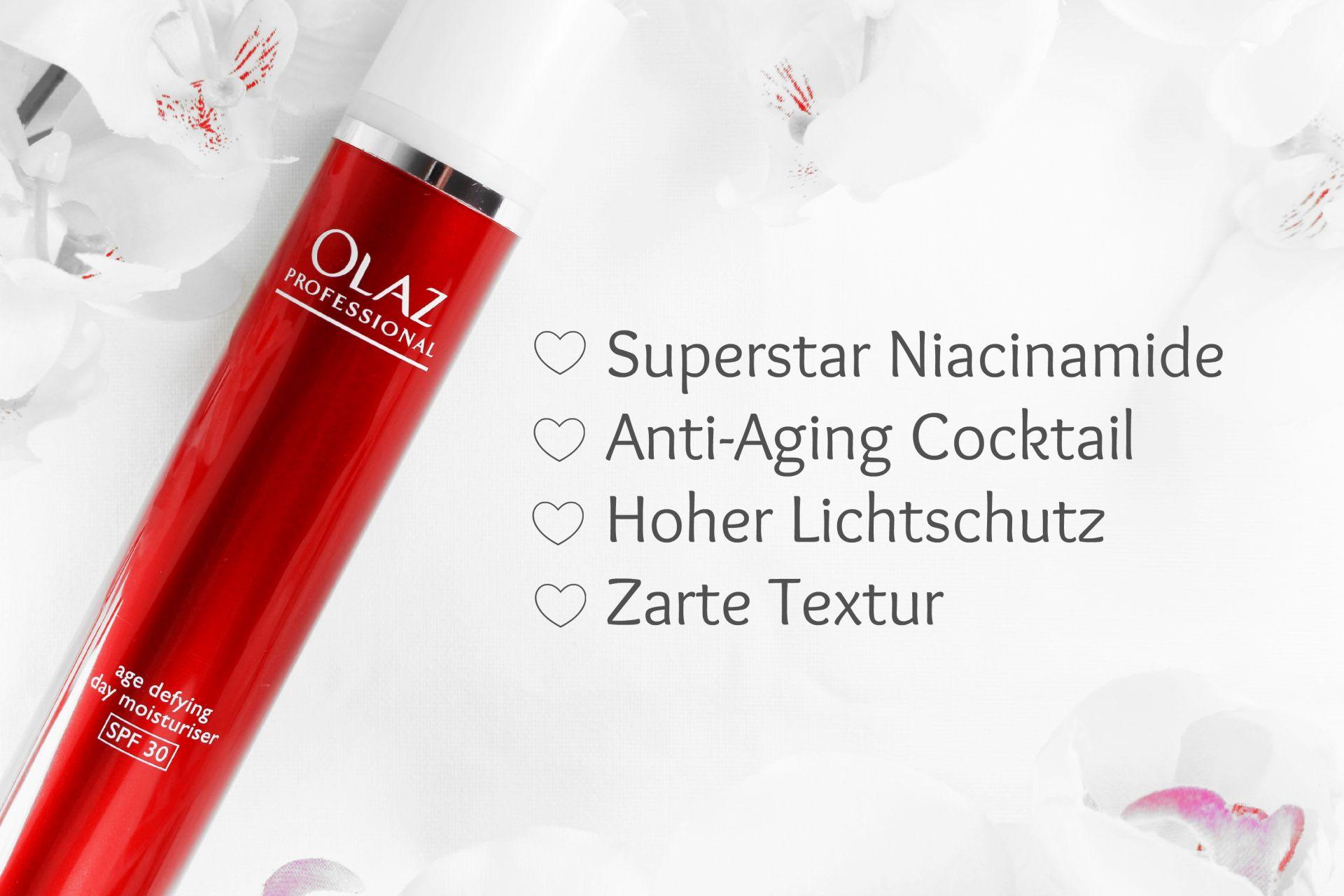 Olaz Professional Anti-Ageing Tagescreme mit LSF 30, Olaz Regenerist Luminous, Olaz Niacinamide, Super Twins Annalena und Magdalena