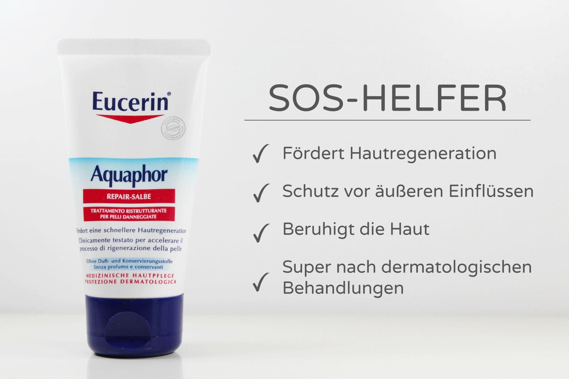 Eucerin Aquaphor, Eucerin Aquaphor Repair-Salbe, Fettsalbe, trockene Haut, Mineralöl in Kosmetik, Super Twins Annalena und Magdalena