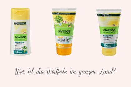 Alverde Sonnencremes färben unsere Haut in gespenstisches Weiß!