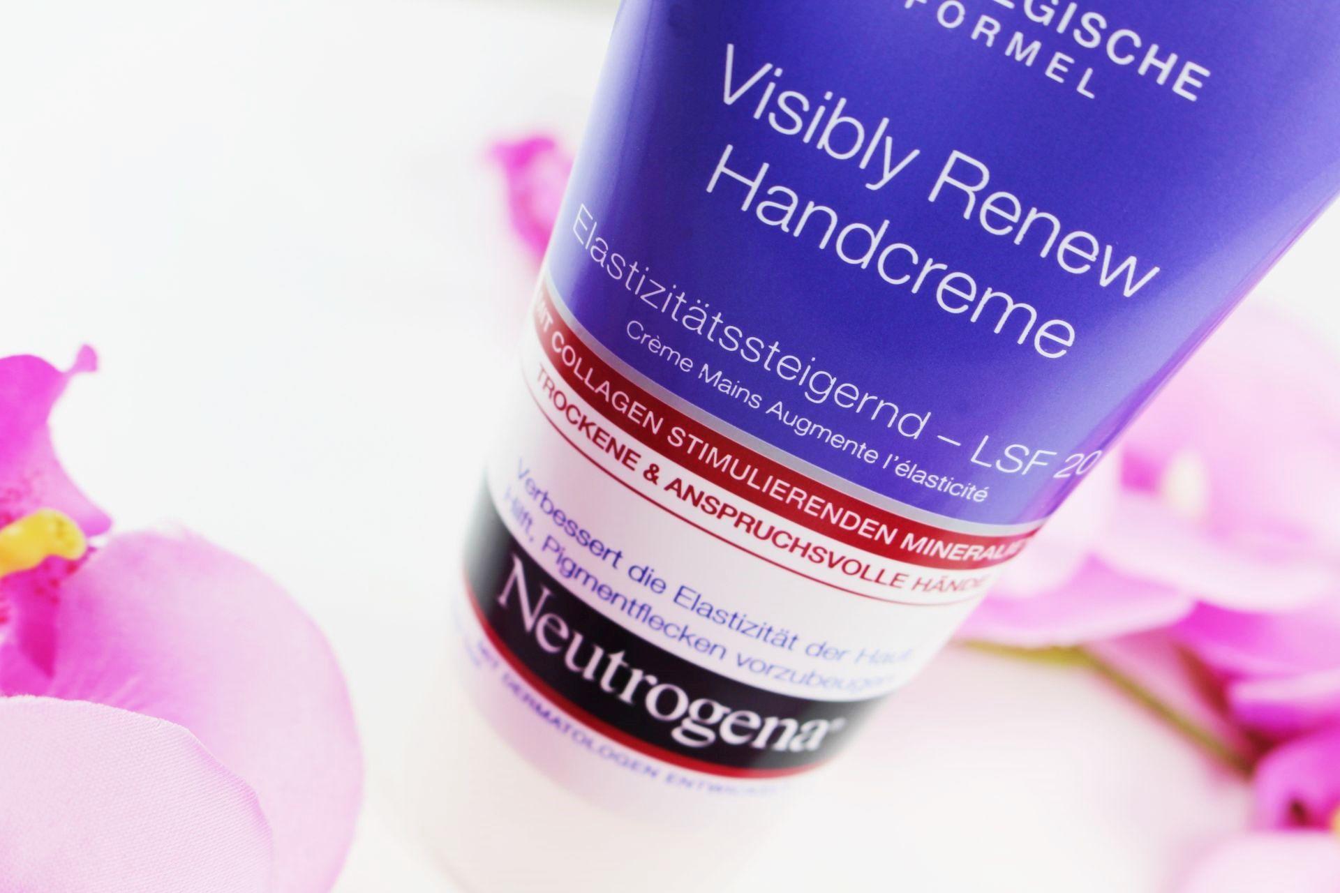 Neutrogena Visibly Renew Handcreme LSF 20, Handcreme Test, Handcreme mit LSF, chemische Sonnencreme, mineralische Sonnencreme, Sonnencreme Hände, Super Twins Annalena und Magdalena