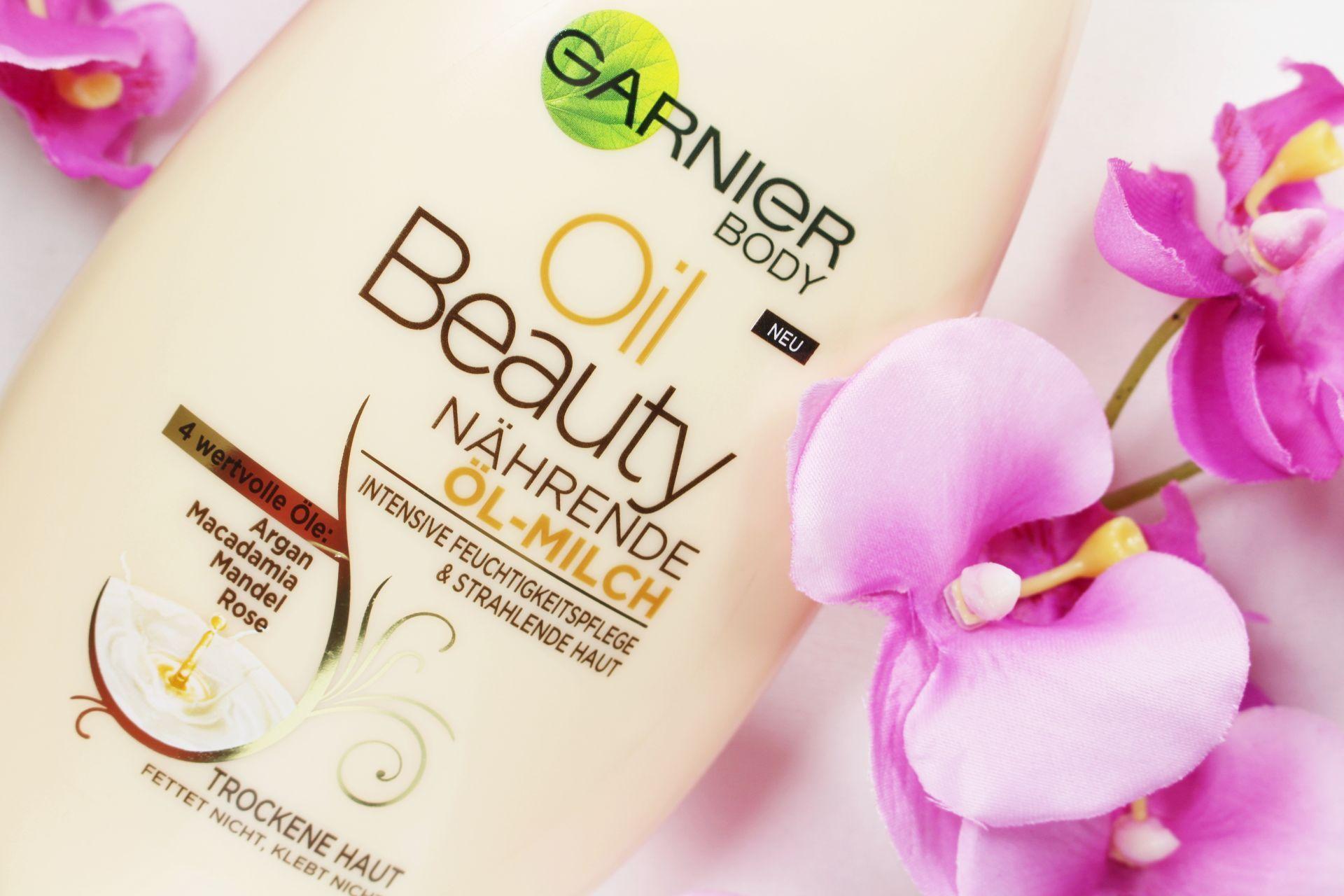 Garnier Body Oil Beauty Nährende Öl Milch, Bodylotion trockene Haut, Bodylotion Test, Winterpflege Haut, Super Twins Annalena und Magdalena