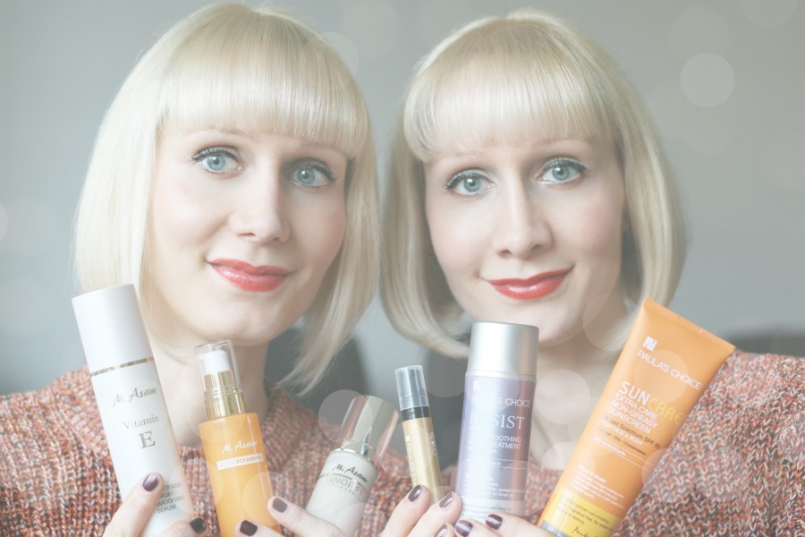 Anti-Aging Blog, Anti-Aging Kosmetik, M. Asam Test, Paula's Choice Test, Super Twins Annalena und Magdalena