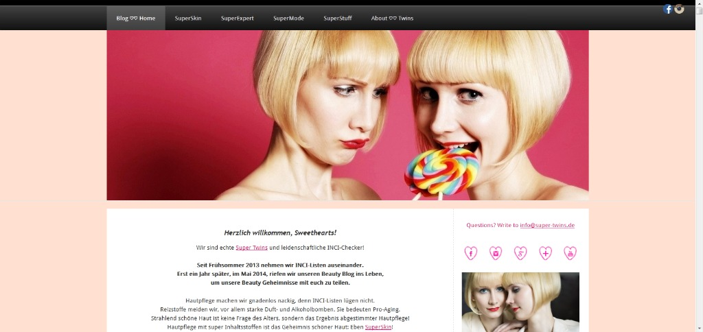 Altes Blogdesign Super Twins Annalena und Magdalena