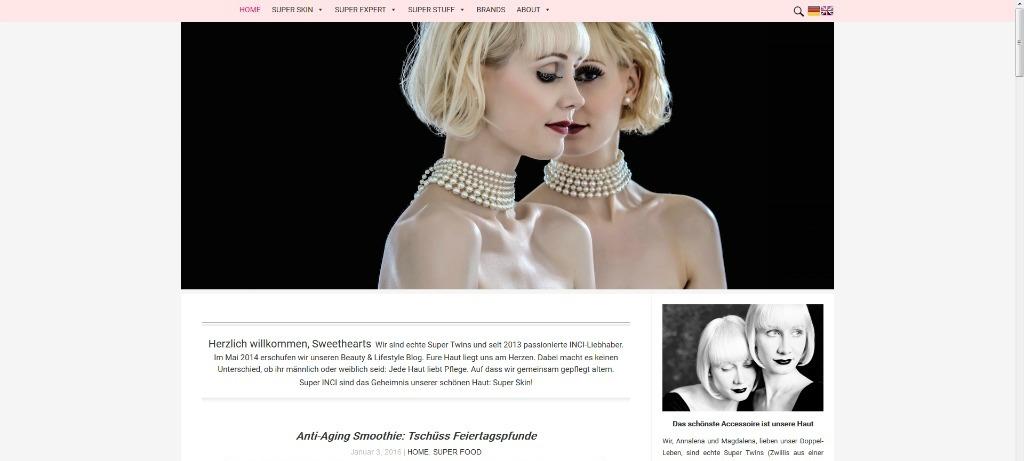 Neues Blogdesign Super Twins Annalena und Magdalena