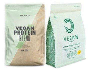 Myprotein und Bulk Powders veganes Proteinpulver