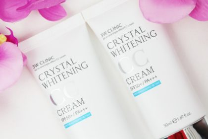 3W Clinic Crystal Whitening CC Cream SPF 50+ in 01 und 02