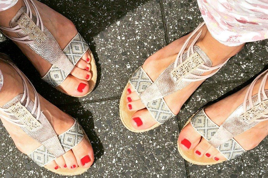 Unsere gepflegten Füße im Sommer :)