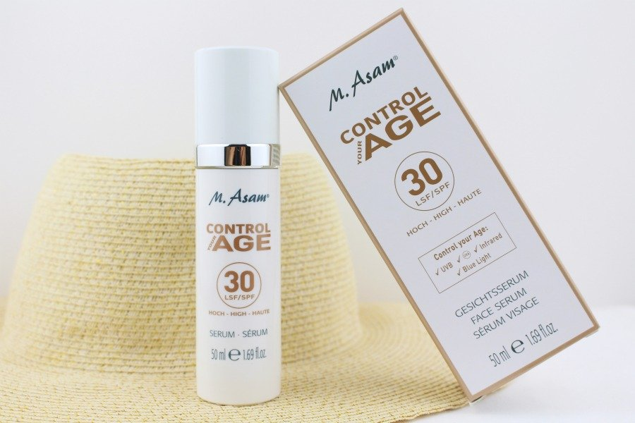 M. Asam Control Your Age Serum Test, M. Asam Control Your Age Serum LSF 30, Sonnenschutz Serum, Sonnenschutz UVA UVB Infrarot, Sonnencreme UVA UVB Infrarot, Sonnencreme hautverträglich, Asambeauty Super Twins, Super Twins Asam, Super Twins Annalena und Magdalena