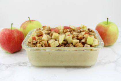 Vanille Pudding Oats à la Omas Apfelkuchen mit Pudding und Streusel