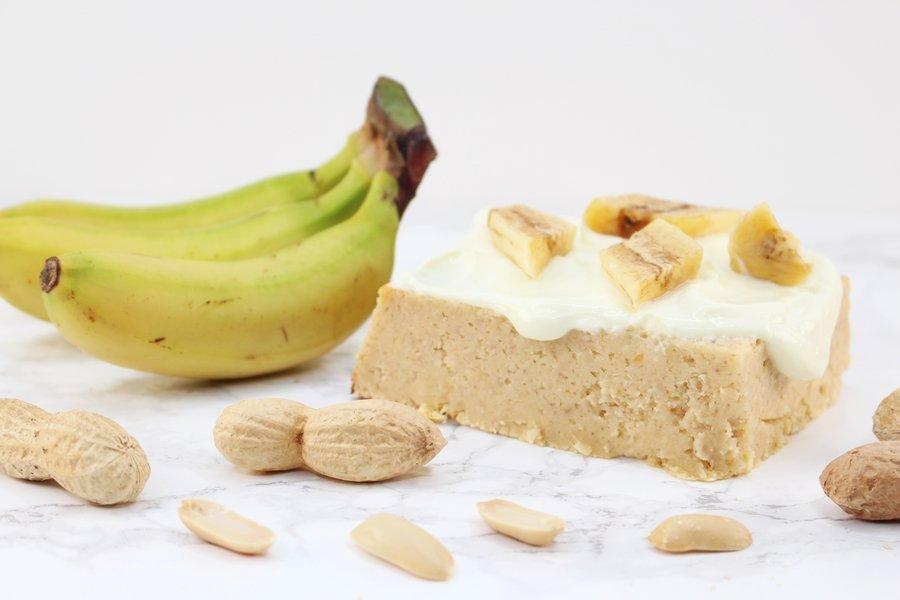 Low Fat Bananenkuchen, Erdnuss Bananen Kuchen, Bananenkuchen ohne Ei, Bananenkuchen mit Erdnussmehl, Super Twins Annalena und Magdalena