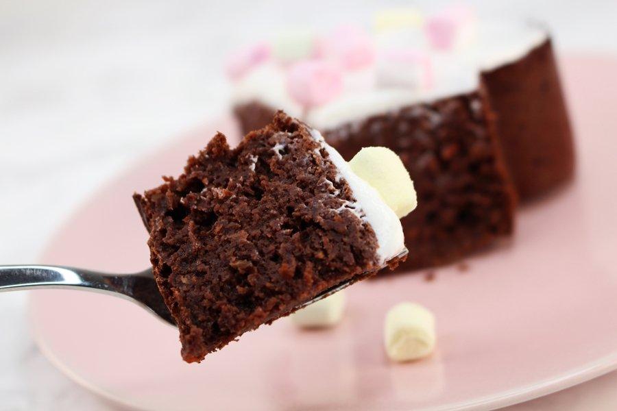 Schoko Rüblikuchen, saftiger Möhrenkuchen mit Schokolade, Protein Möhrenkuchen, saftiger Karottenkuchen ohne Zucker, Super Twins Annalena und Magdalena