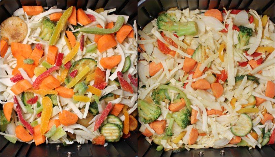 Cosori Airfryer 5.5l XXL Test, Cosori Heißluftfritteuse Rezepte, Airfryer Rezepte gesund, Airfryer Gemüse garen, Airfryer Tiefkühl Gemüse, Super Twins Airfryer, Super Twins Annalena und Magdalena