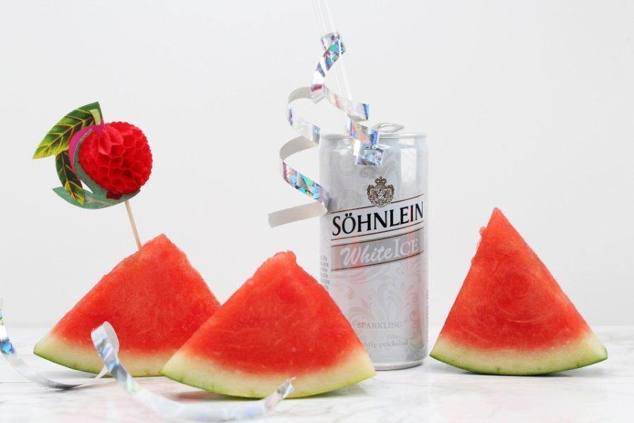 Wassermelonen Sorbet ohne Zucker, Melonensorbet Rezept ohne Zucker, Wassermelonen Eis Sorbet, Eis Sorbet ohne Zucker, Meloneneis ohne Milch, Sekt Sorbet selber machen, Super Twins Annalena und Magdalena